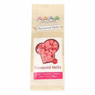 FunCakes Funcakes Flavoured Chocolade Melts Aardbei -250g-