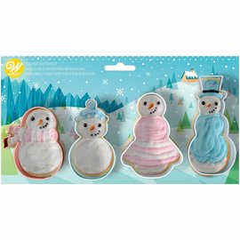 Wilton Wilton Cookie Cutter Set Snowman Set/4
