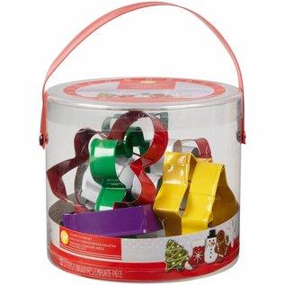 Wilton Wilton Cookie Cutter Tub Christmas/12