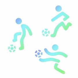 JEM JEM Stencil Footballers pk/3