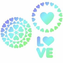 JEM JEM Stencil Love pk/3