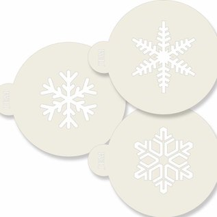 JEM JEM Stencil Snowflakes pk/3
