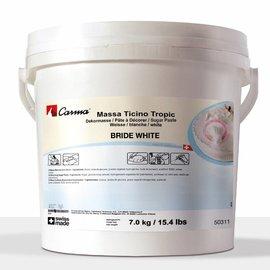 Massa Ticino Massa Ticino Tropic Sugarpaste - White 7kg -Pail-