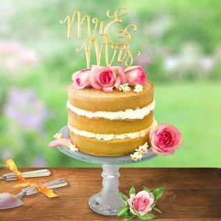 PME PME Cake Topper Cutter Mr & Mrs - Script