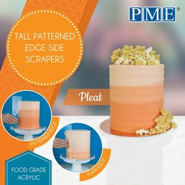 PME PME Tall Patterned Edge Side Scraper -Pleat-plooi-