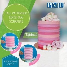 PME PME Tall Patterned Edge Side Scraper -Ribbed-Ribbel-