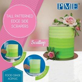 PME PME Tall Patterned Edge Side Scraper -Scallop-Schulp-