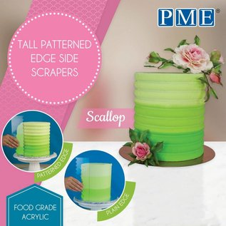 PME PME Tall Patterned Edge Side Scraper -Scallop-Schulp-