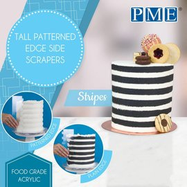 PME PME Tall Patterned Edge Side Scraper -Stripes-strepen-