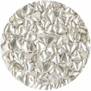 FunCakes FunCakes Suikerhartjes Metallic Zilver 80g