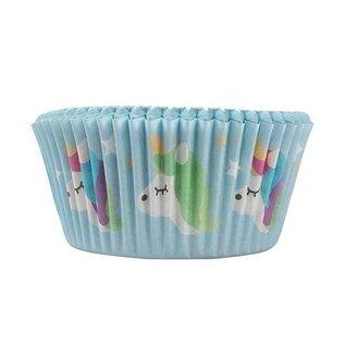 Cupcake Cups Unicorn/eenhoorn 50mm 24stuks
