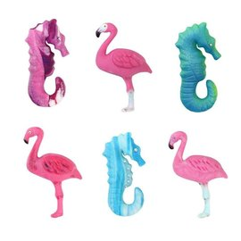 JEM JEM Pop It Mold Zeedieren, Flamingo, Zeepaardje