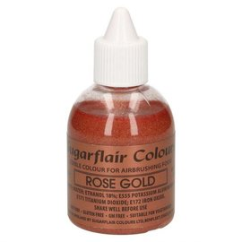sugarflair Sugarflair Airbrush Colouring -Glitter Rose Gold- 60ml