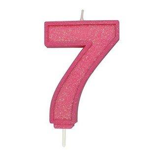 Culpitt Cijferkaars 7 - Roze met Glitter
