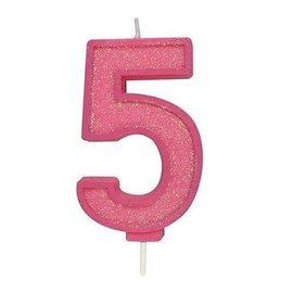 Culpitt Cijferkaars 5 - Roze met Glitter