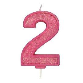 Culpitt Cijferkaars 2 - Roze met Glitter