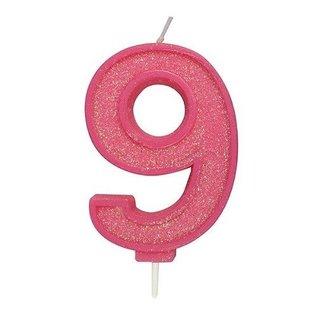 Culpitt Cijferkaars 9 - Roze met Glitter