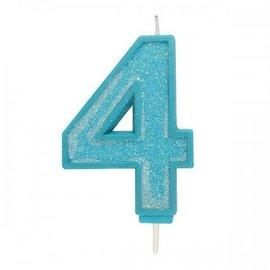 Culpitt Cijferkaars 4 - Blauw met Glitter