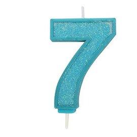 Culpitt Cijferkaars 7 - Blauw met Glitter