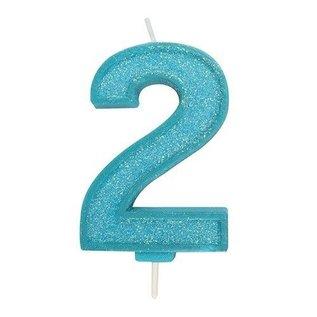 Culpitt Cijferkaars 2 - Blauw met Glitter