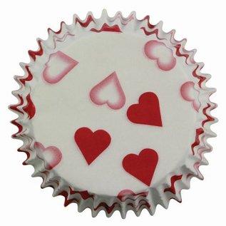 PME PME Baking Cups Petite Heart 60 stuks