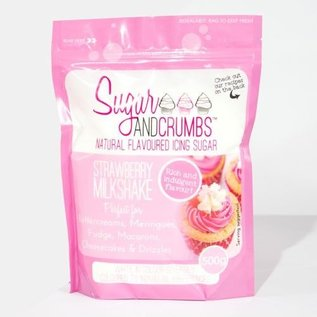 Sugar and Crumbs Sugar and Crumbs Icing Sugar -Strawberry Milkshake- 500g