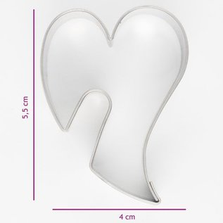 Koekjes Uitsteker Sierlijk Hart 5,5 cm