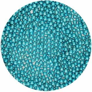 FunCakes Funcakes suikerparels 4 mm metallic blauw 80g