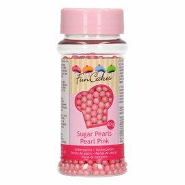 FunCakes Funcakes suikerparels 4 mm parelmoer roze 80g