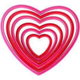 Wilton Wilton Nesting Heart Cutter set/6