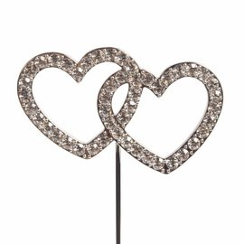 CakeStar Cake Star Cake Topper Diamante Double Heart