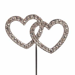 CakeStar Cake Star Cake Topper Diamante Double Heart