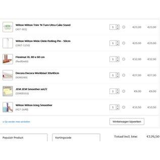 StartpakketTaart deLuxe Materialen