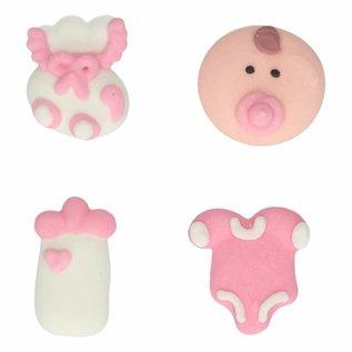 FunCakes FunCakes Suikerdecoratie Baby Meisje Set/8