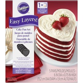 Wilton Wilton Heart Cake Pan Easy Layers Set/5