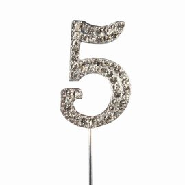 CakeStar Cake Star Cake Topper Diamante Number 5