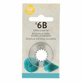 Wilton Wilton Decorating Tip #6B Open Star Carded