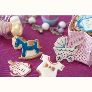 Silikomart Silikomart Wonder Cakes Plunger Cutter -Baby- set/4