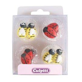 Culpitt Culpitt Suikerdecoratie Bij & Lieveheersbeestje pk/12
