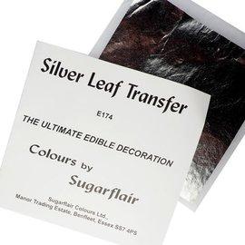 sugarflair Sugarflair Silver Leaf Transfer/ bladzilver