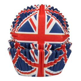 House of Marie HOM Baking Cups Britse Vlag- pk/24
