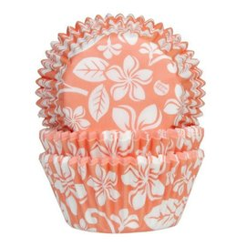 House of Marie Baking Cups Aloha Bloem Abrikoos- pk/24