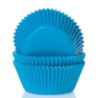 House of Marie HOM Mini Baking cups Cyaan Blauw- pk/24