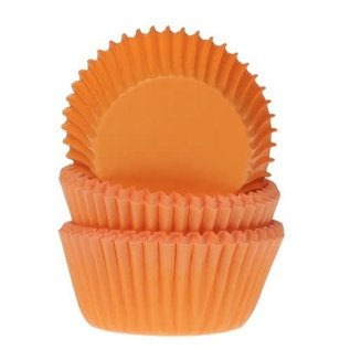 House of Marie HOM Mini Baking cups Oranje- pk/24