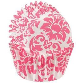 Wilton Wilton Mini Baking Cups Damask -Pink- pk/100