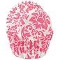 Wilton Wilton Mini Baking Cups Damask -Pink- pk/100