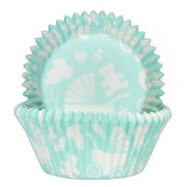 House of Marie HOM Baking Cups Baby Mint- pk/24