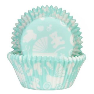 House of Marie HOM Baking Cups Baby Mint / Kinderwagen - pk/24