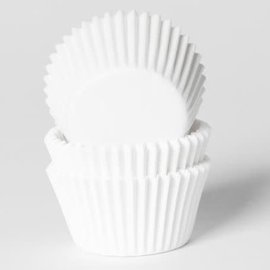 House of Marie HOM Mini Baking cups Wit- pk/24