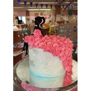 CakeTopper Dame op taart